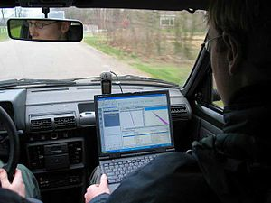 Satellite navigation - Satellite navigation using a laptop and a GPS receiver