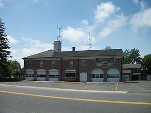 Sayville, New York - Sayville Fire Department along Lincoln Avenue just north of Montauk Highway.