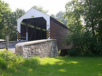 Schenck's Mill Covered Bridge - Image: Schenck's Mill Covered Bridge Three Quarters View 3264px