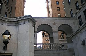 Schenley Quadrangle - Forbes Avenue entrance to Schenley Quadrangle