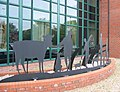 Sculpture at Nantwich Veterinary Hospital - geograph.org.uk - 258938.jpg