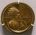 Scuola francese (forse Michelet Saulmon), medaglia bronzea di eraclio, 1400 ca..jpg