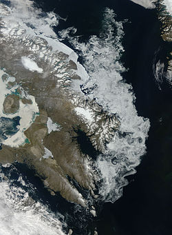 Sea ice around Baffin Island