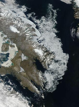Laurentide Ice Sheet - The Barnes Ice Cap, containing remnants of the Laurentide Ice Sheet.