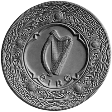 The seal of the President of Ireland, incorporating a harp Seal of the President of Ireland.png