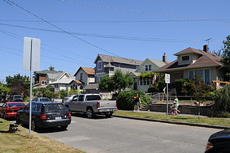 Delridge, Seattle - Houses on 20th Ave SW in Pigeon Point
