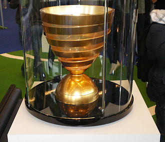 Football in France - Coupe de la Ligue trophy.