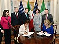 Secretary Clinton and Mexican Foreign Relations Secretary Espinosa Sign an Agreement To Advance Gender Equality (8001541490).jpg
