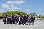 Secretary Kerry and His G7 Counterparts Stand With School Children After Laying Wreaths at the Hiroshima Peace Memorial (25760750913).jpg