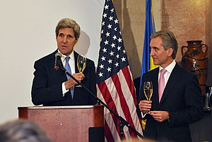 Iurie Leancă - John Kerry and Iurie Leancă in December 2013.