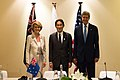 Secretary Kerry with Australian and Japanese Foreign Ministers before the Trilateral Security Dialogue (10084763494).jpg