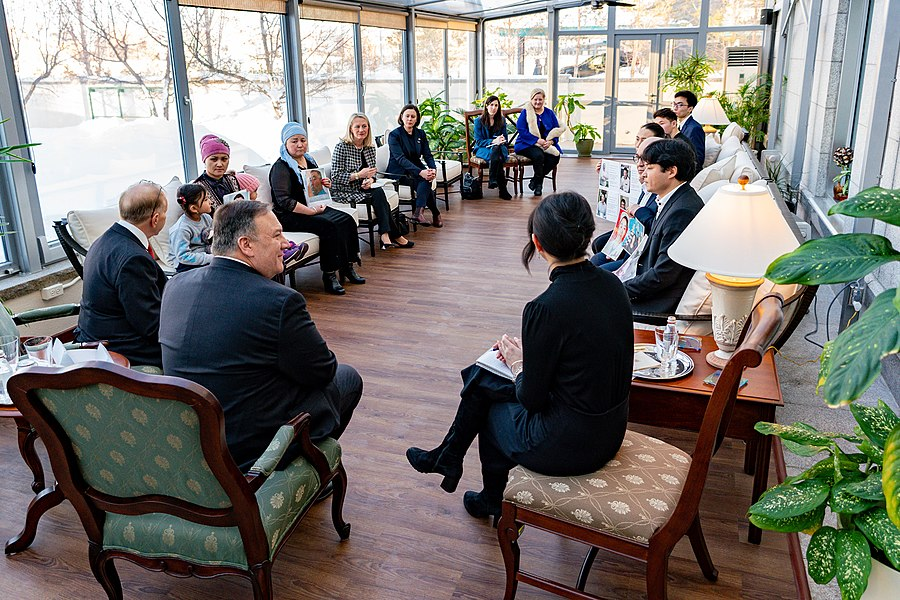 Secretary Pompeo Meets With Family Members of Ethnic Kazakh-Chinese in Xinjiang (49476563807).jpg