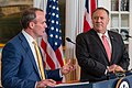 Secretary Pompeo Participates in a Joint Press Availability With United Kingdom Foreign Secretary Raab (48482007502).jpg