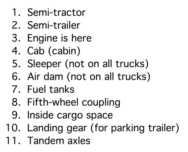 Semi Tractor Engine Diagram