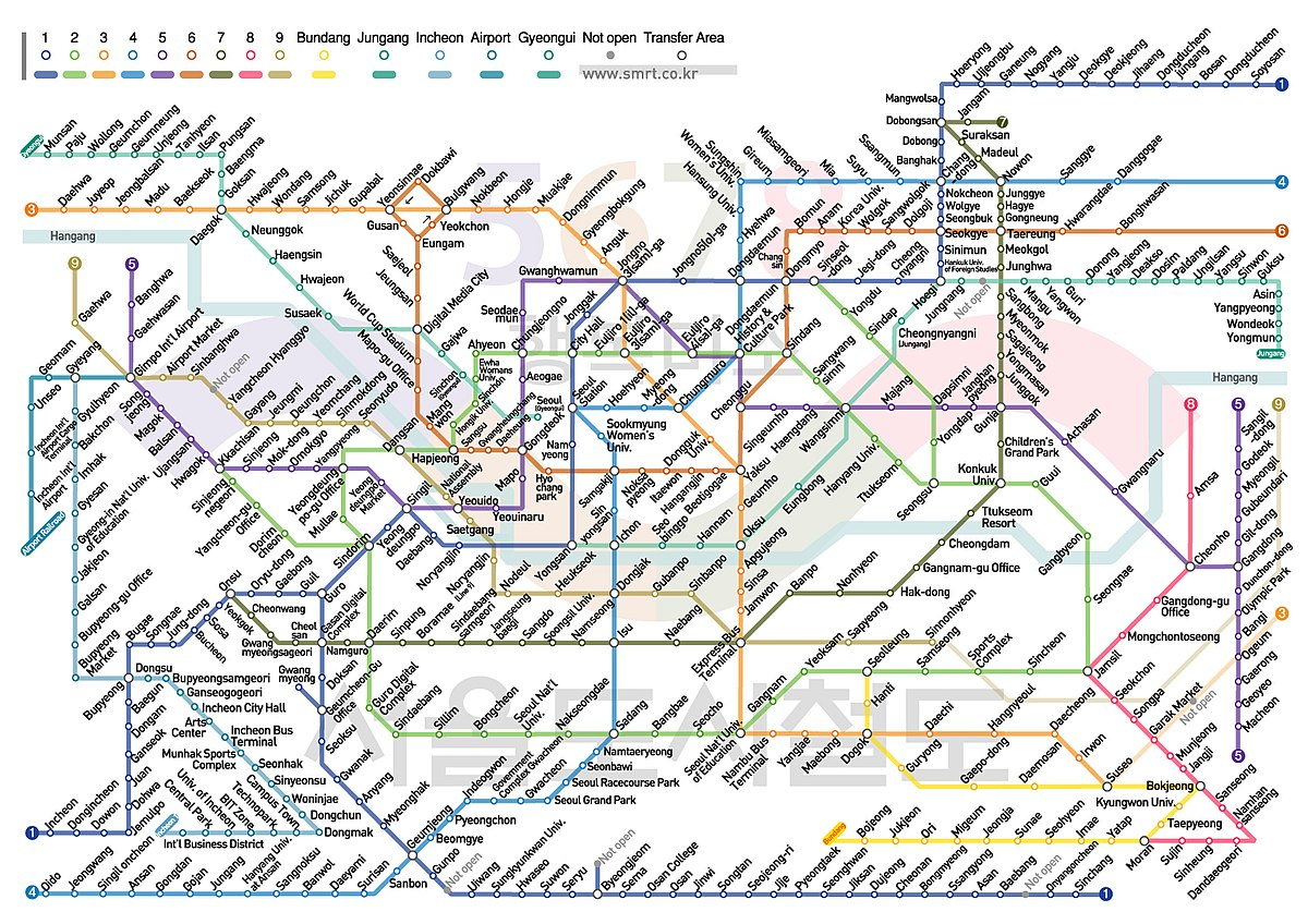 Korean Subway Map English.File Seoul Subway Map English 4259059378 Jpg Wikimedia Commons