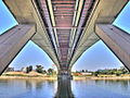 Serbia, Belgrade, under Gazela bridge, HDR, 2011.jpg