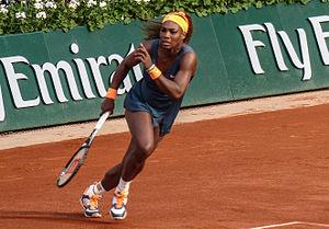 2013 Serena Williams tennis season - Serena Williams at the French Open against Caroline Garcia.