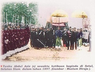 Kingdom of Setul Mambang Segara - Kedahan Royal Procession in Setul led by Tunku Abdul Aziz, 1897.