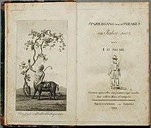 Spaziergang nach Syrakus. Titelblatt und Frontispiz der Erstausgabe von 1803 (Quelle: Wikimedia)