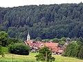 Sexau mit evangelischer Kirche, Blick vom Breisgauer Weinweg.jpg