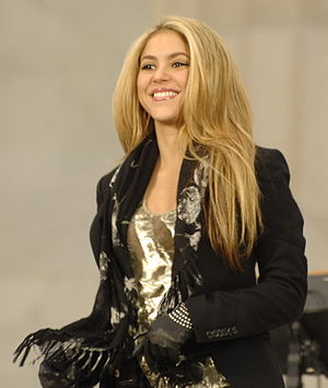 Colombian pop star Shakira performs at the Lin...