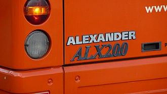 Alexander ALX200 - The ALX200 badge.