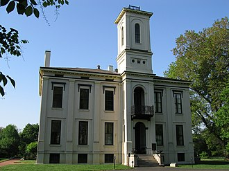 Henry Shaw (philanthropist) - Henry Shaw's Tower Grove House, built in 1849.