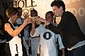 Sheryl Sculley, Lisa Astorga-Watel and Molly Cox, Champagne Toast, San Antonio Flavor (March 2015).jpg