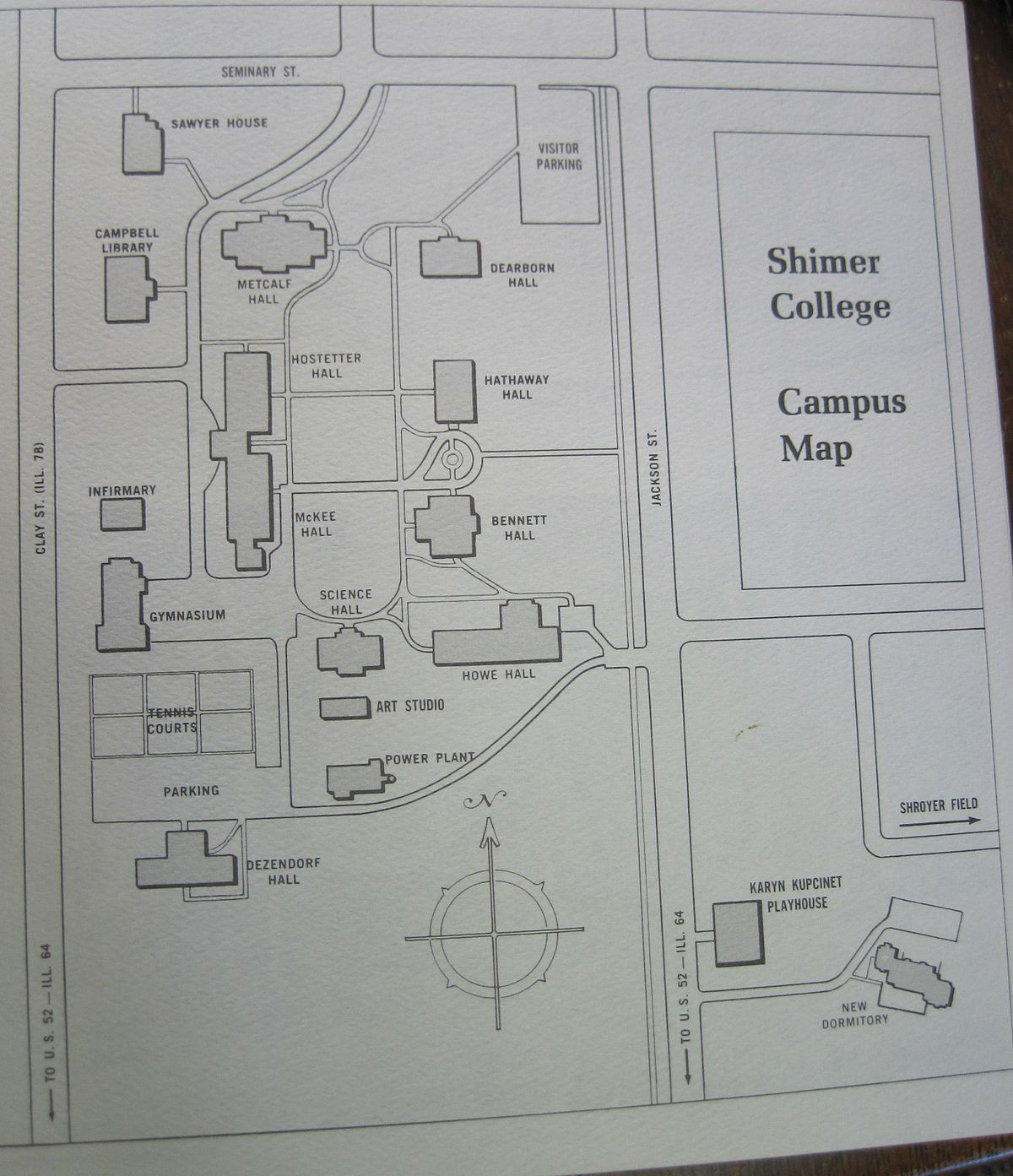 bennett college campus map File Shimer College Campus Map 1973 Jpg Wikimedia Commons bennett college campus map