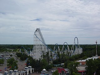 Shockwave (Six Flags Great America) Roller coaster at Six Flags Great America in Gurnee, Illinois
