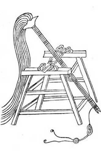 "Trebuchet - Sìjiǎo ""Four Footed"" traction trebuchet from the Wujing Zongyao."