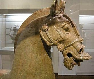 Protectorate of the Western Regions - Image: Sichuan, han orientali, cavallo con ciuffo e criniera corta, seconda metà II inizio III sec. 03