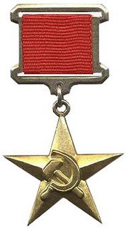 Hero of Socialist Labour Title of honour of the Soviet Union and other Warsaw Pact countries