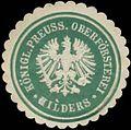 Siegelmarke K.Pr. Oberförsterei Hilders W0362211.jpg