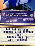 Sign St John's Cathedral, Brisbane 052013 272.jpg
