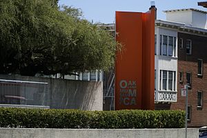 Oakland Museum of California - Image: Sign outside the Oakland Museum of California
