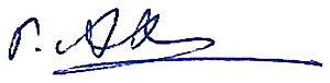 Gabdulkhay Akhatov - Image: Signature of Professor Gabdulkhay Akhatov