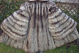 Leathered Silver fox fur coat