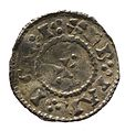 Silver penny of Cnut (YORYM 2000 594) reverse.jpg