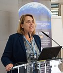 Simonetta Di Pippo speaking at the WIA-Europe Breakfast at GLIS 2016 (27424938981).jpg