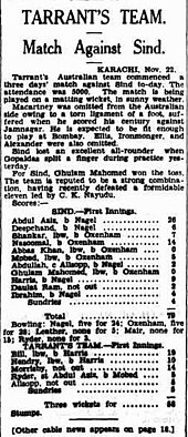 Sindh Cricket team match with Australia in 1935.jpg