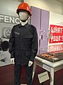 Singapore Civil Defence Force uniform and helmet, Asian Civilisations Museum, Singapore - 20150807.jpg