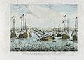 Sinking of H.M.S. Royal George at Spithead at 9 o'clock A.M. Augt 29th 1782 from an original Drawing in the possession of Henry Slight Esqr by whom this Print is Published 1839 RMG L9214.jpg