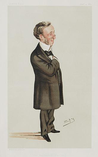 Richard Quain - Caricature of Sir Richard Quain in Vanity Fair