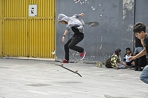 Kickflip - Image: Skateboarding at Mexico City Flip 032