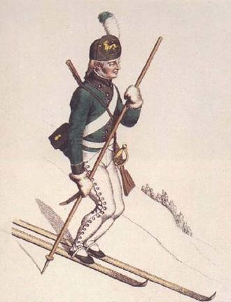 Ski warfare - A Norwegian soldier on skis 1801.