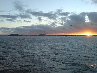 North Shore, New Zealand - The southern Hauraki Gulf coast of the city