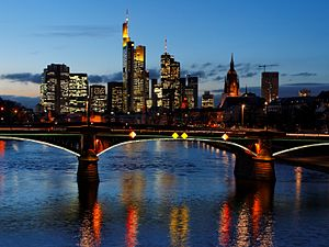 Downtown Frankfurt am Main, Germany; seen from...