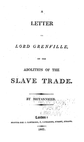 Slave trade 1807
