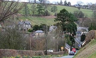 Llanrhaeadr-ym-Mochnant village in Powys, Wales
